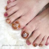 colors nail Yuu プロデュース1 embroidery lace