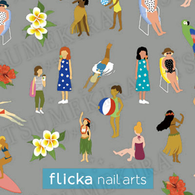 flicka nail arts プロデュース1  4seasons GIRLS Summer