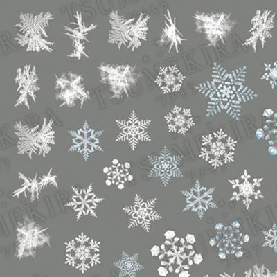 雪の結晶4 Frozen Winter ネイル...