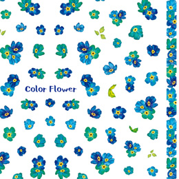 Color Flower blue