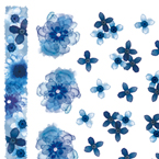 indigo blue flowers ネイルシール