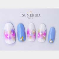cranberry nail プロデュース1 Gradation flowers white