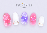 Translucent Flowers ネイルシール