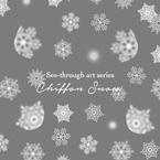 雪の結晶5 Chiffon Snow ネイルシール