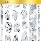 【noble】marble parts white×silver (ジェル専用)