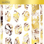 【noble】marble parts white×gold (ジェル専用)